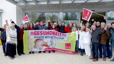 Landesfachbereichsvorstand Bayern fiebert mit: Aktionstag in den Krankenhäusern