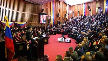 Verfahren vor dem Supreme Court während der zweiten Einweihung von Maduro im Januar 2019