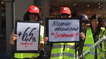 Streik im Einzelhandel von Heidelberg, 8.6.19