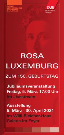 Ausstellung: Rosa Luxemburg (Flyer)